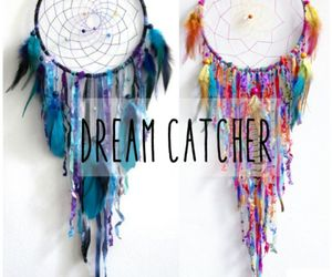 blue, Dream, and dream catcher image