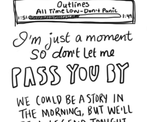 all time low, outlines, and Lyrics image