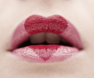 lips, heart, and pink image