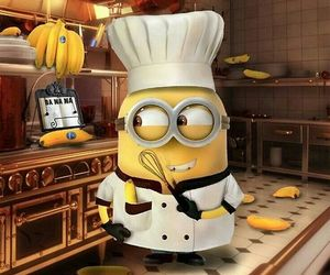minions, banana, and chef image