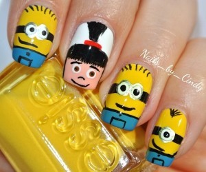 nails, minions, and essie image
