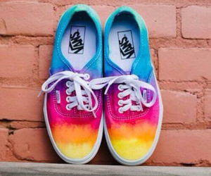 colors, shoes, and rainbow image