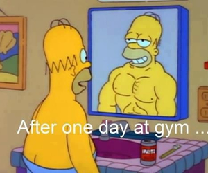 gym, funny, and simpsons image