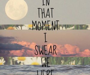 flowers, moon, and love quotes image