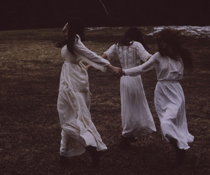 wild and free, ethereal goth, and white goth image