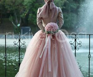 bride, muslim, and dress image