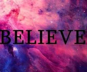 believe, galaxy, and quote image