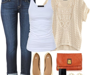 clothes, outfit, and purse image