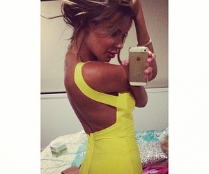 backless, dress, and Hot image