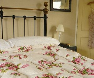 bed, roses, and bedroom image