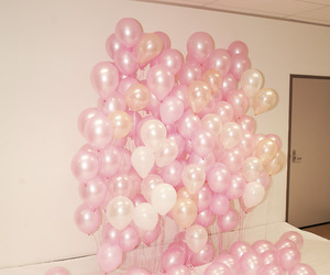 balloons, pink, and hipster image