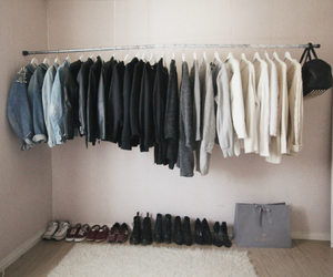 closet, fashion, and jackets image