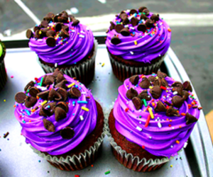 cupcake, food, and purple image