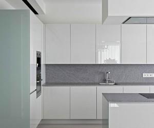 interior design, white shelves, and apartment. image