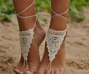 beach, feet, and inspired image