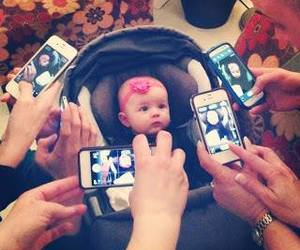 baby, iphone, and photo image