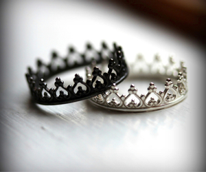couple, crown, and ring image