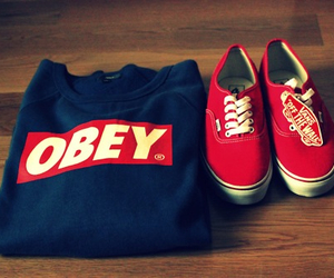 obey, vans, and red image