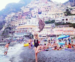 girl, beach, and model image