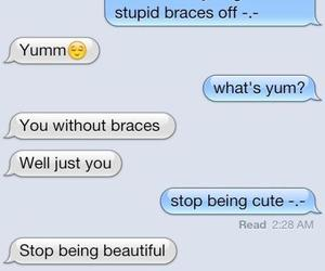 braces, funny, and text image