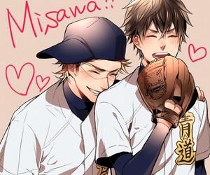 smile, diamond no ace, and miyuki kazuya image