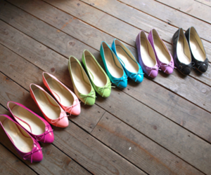 shoes, flats, and colorful image