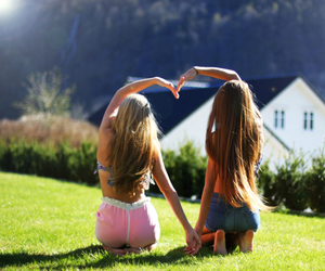 girls, summer, and love image