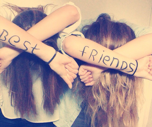 best friends, love, and blonde image