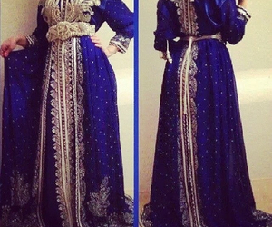 blue, caftan, and silver image