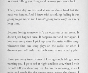 quote, losing you, and sad image