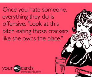 funny, hate, and food image