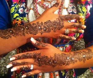 beautiful, tradition, and henna image