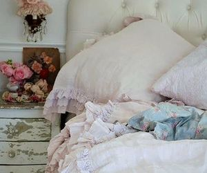 bedroom, home decor, and shabby image