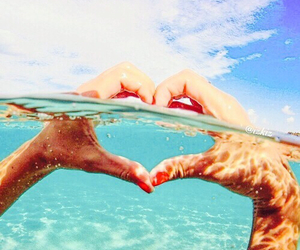 heart, love, and summer image