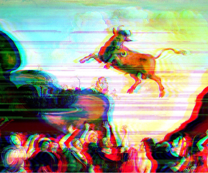 art, glitch, and glitch art image