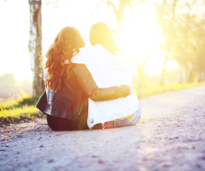 backlight, beautiful, and friendship image