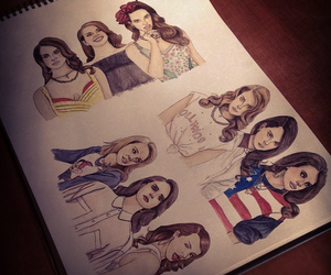 lana del rey, drawing, and cool image
