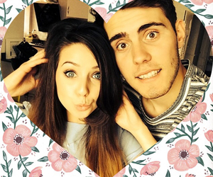 zalfie, zoella, and couple image