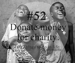 charity, 52, and 100 things to do in life image