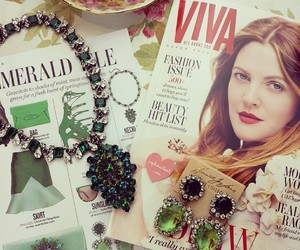 drew barrymore, fashion, and jewelry image