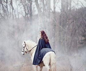 girl, horse, and fantasy image