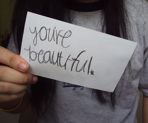 beautiful, girl, and sign image