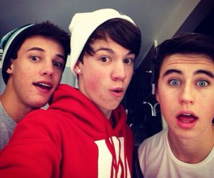 cameron dallas, nash grier, and taylor caniff image