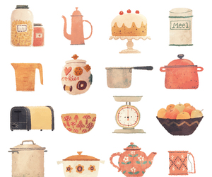 apples, cake, and cookware image