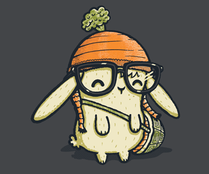 bunny, hipster, and cute image