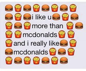 food, McDonalds, and love image