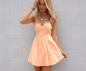dress, blonde, and clothes image