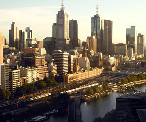 city, melbourne, and sky image