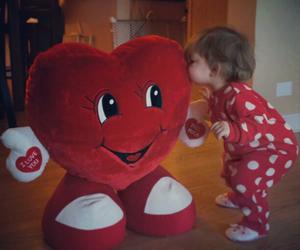 adorable, girl, and heart image