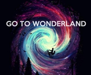 wonderland and galaxy image